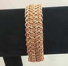Bronze Elfsheet Chainmaille Bracelet