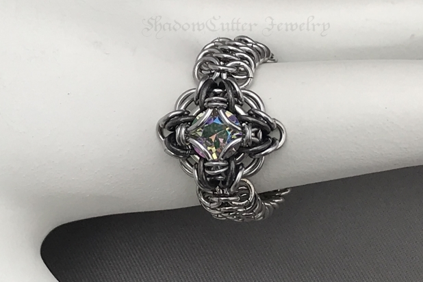 Stainless steel chainmaille ring paradise shine