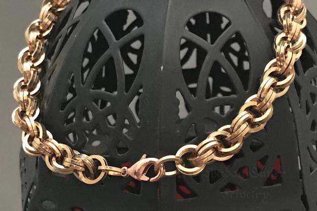 Bronze spiral Men's bracelet