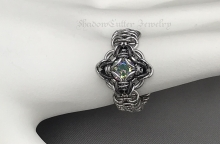 Celtic Labyrinth ring stainless steel chainmaille